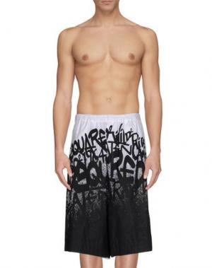 Пляжные брюки и шорты DSQUARED2. Цвет: черный