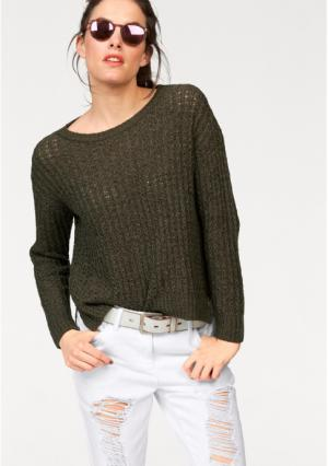 Пуловер Aniston. Цвет: оливково-зеленый