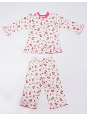 Пижама Жанэт. Цвет: молочный