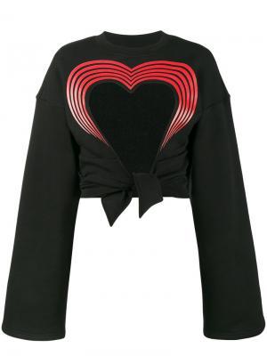 Толстовка с вырезанным сердцем Y / Project. Цвет: чёрный