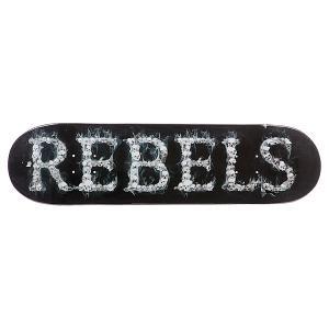 Дека для скейтборда  Logo Skulls 32 x 8.25 (21 см) Rebels. Цвет: черный