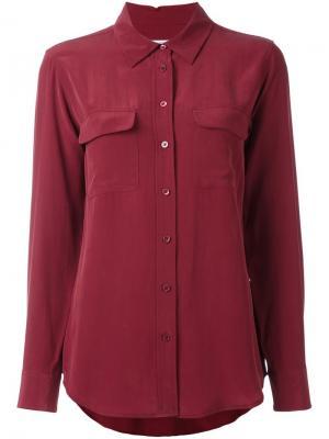 Рубашка с нагрудными карманами Equipment. Цвет: красный