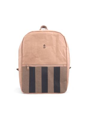 Рюкзак STRIPED URBAN FUN KRAFT. Цвет: рыжий, оливковый, черный