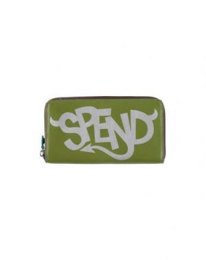 Бумажник GABS. Цвет: зеленый-милитари