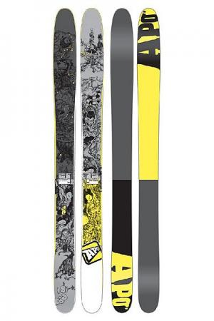 Горные лыжи  Ron 181 Grey/Yellow Apo. Цвет: серый,желтый