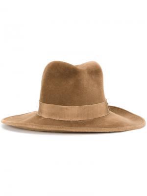 Шляпа федора Kijima Takayuki. Цвет: коричневый