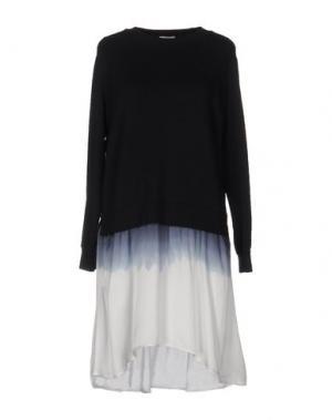 Короткое платье CLU. Цвет: темно-синий
