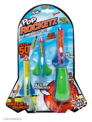 Ручной ракетомет PopRocketz ZING. Цвет: салатовый, голубой, красный