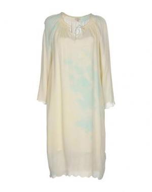 Короткое платье INTROPIA. Цвет: светло-желтый