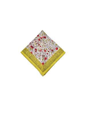 Салфетка Rosy grey red /Розовый серый красный/ 50*50см, 100% хлопок Mas d'Ousvan. Цвет: серо-зеленый