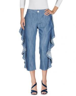 Джинсовые брюки ALEXIS. Цвет: синий