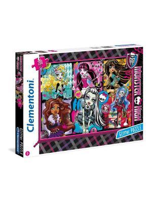 Clementoni. Monster High Портреты Фриков. Пазл блестящий. Clementoni. Цвет: черный, синий, розовый