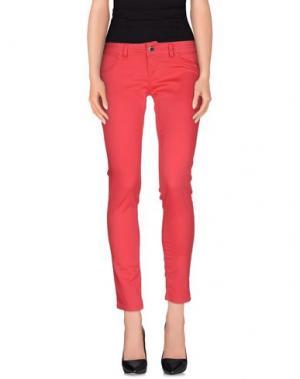 Повседневные брюки FLY GIRL. Цвет: коралловый