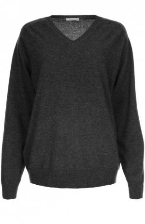 Вязаный пуловер 6397. Цвет: темно-серый