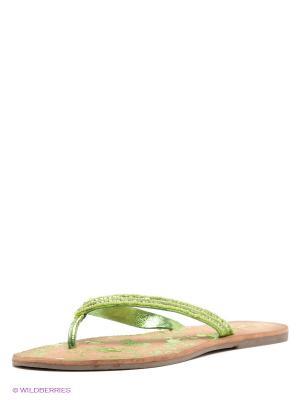 Шлепанцы VelVet. Цвет: зеленый