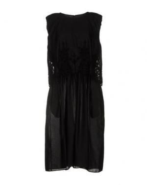 Платье длиной 3/4 ZUCCA. Цвет: черный