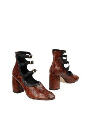 Полусапоги и высокие ботинки MIISTA. Цвет: коричневый