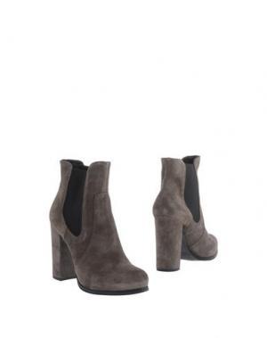 Полусапоги и высокие ботинки EMANUELA PASSERI. Цвет: серый