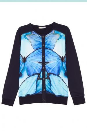Жакет с бабочками Luminoso. Цвет: голубой