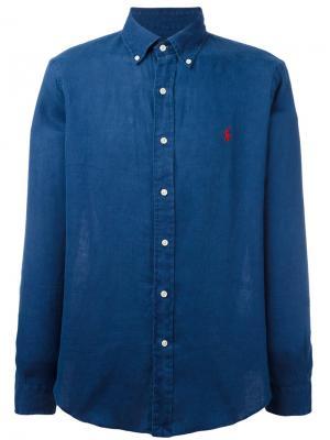 Джинсовая рубашка с вышитым логотипом Polo Ralph Lauren. Цвет: синий