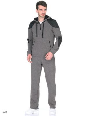 Утепленный спортивный костюм FORLIFE. Цвет: коричневый, черный