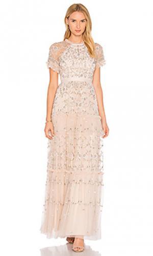 Кружевное вечернее платье constellation Needle & Thread. Цвет: розовый