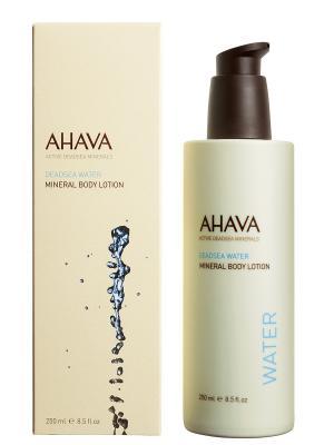 Лосьон для тела минеральный AHAVA. Цвет: кремовый