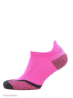 Носки ELITE RUNNING CUSH NO SHOW TAB Nike. Цвет: фуксия