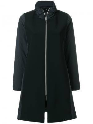 Panelled zipped coat Rrd. Цвет: чёрный