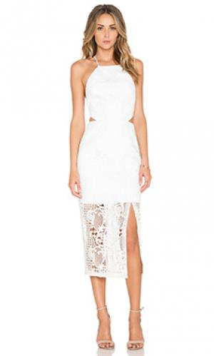 Платье fleur NICHOLAS. Цвет: белый
