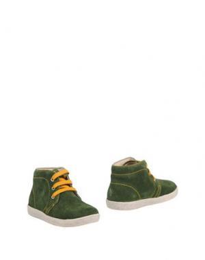 Полусапоги и высокие ботинки FALCOTTO. Цвет: зеленый
