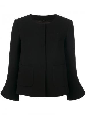 Укороченный расклешенный пиджак LAutre Chose L'Autre. Цвет: чёрный