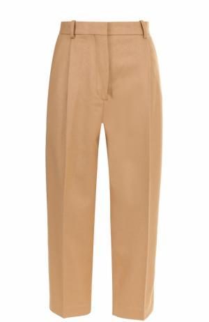 Укороченные брюки с защипами и стрелками Acne Studios. Цвет: бежевый