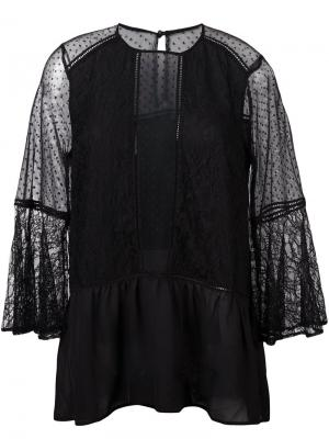 Полупрозрачная блузка Perseverance London. Цвет: чёрный