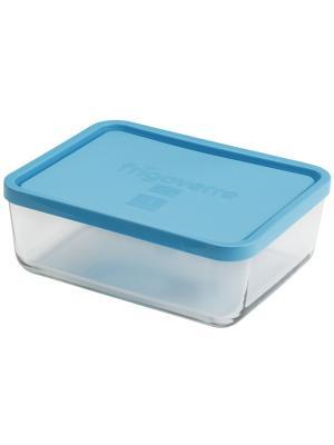 Контейнера стеклянные B335150-1  Bormioli Rocco Стеклянный контейнер Frigoverre прямоугольный 26*21. Цвет: синий