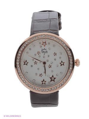 Часы Taya. Цвет: золотистый, коричневый