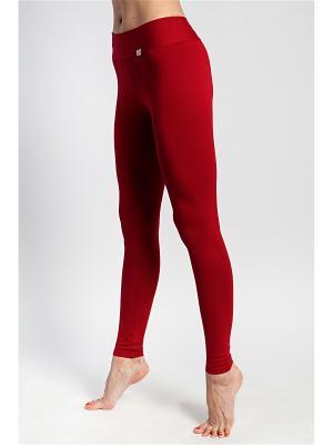 Леггинсы yogadress. Цвет: красный