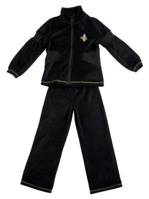 Спортивный костюм ВЕНЕЙЯ. Цвет: черный