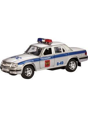 Машина ГАЗ-31105 Волга полиция AUTOTIME. Цвет: серебристый