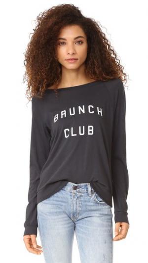 Пуловер Brunch Club с рукавами реглан South Parade. Цвет: дымчато-черный