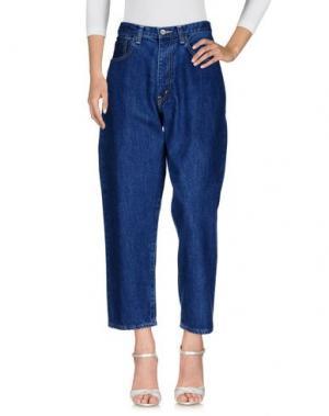 Джинсовые брюки MA'RY'YA. Цвет: синий