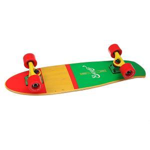 Скейт мини круизер  Shelby Rasta 7.25 x 27 (68.5 см) Eastcoast. Цвет: красный,желтый,зеленый