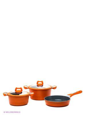 Набор посуды, 5пр Winner. Цвет: оранжевый
