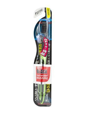 Зубная щетка Black Ultra Slim Plus мягкая DENTALPRO. Цвет: зеленый