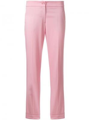 Зауженные к низу брюки Etro. Цвет: розовый и фиолетовый