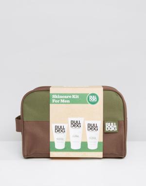 Bulldog Подарочный набор для ухода за кожей с косметичкой. Цвет: мульти