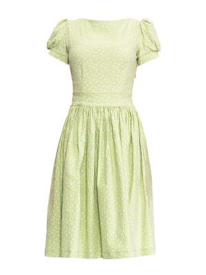 Платье Sarafan. Цвет: зеленый