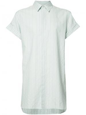 Striped long shirt Ann Demeulemeester Grise. Цвет: синий