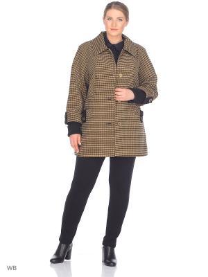 Пальто Грида VIKO. Цвет: светло-коричневый