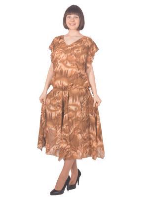 Блузка Томилочка Мода ТМ. Цвет: светло-коричневый, бежевый
